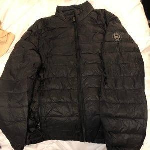 Dark Navy Michael Kors Light Down Jacket
